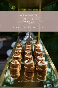 We have become well known for our brownies, but also boast the best Lemon Meringues and Carrot Cakes which you may have sampled at a coffee shop or two around Durban. We have redesigned these favorites to cater for the rising trend of stackable desert items, mini cakes, late night comfort foods etc. #hooraydirectory #weddings #southafricanweddings #southafricanbrides #planningmywedding #hoorayweddings