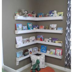 Rain guards make great book shelves for kids
