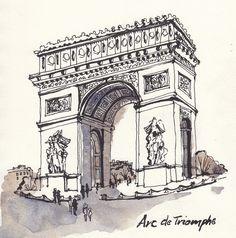 Arc De Triomphe by Jennifer Lawson