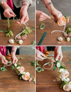 How to DIY Flower crown tutorials in the DIY wedding APP! See hundreds of how to DIY flower videos in the only DIY wedding app! #DIYwedding