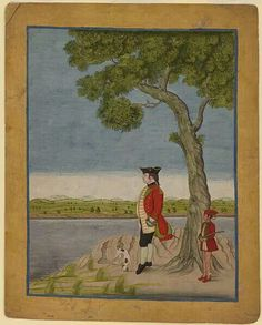 A British officer in the East India Company, 1765.