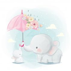 Cute Cartoon Elephant And Balloons Illustration Cartoon Elephant, Elephant Art, Cute Elephant, Indian Elephant, Baby Animal Drawings, Cute Drawings, Balloon Illustration, Cute Illustration, Cute Cartoon Wallpapers