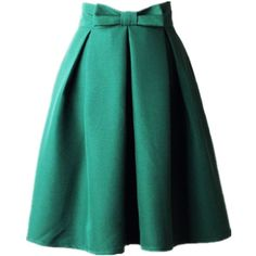 Women's A Line Pleated Vintage Skirt High Waist Midi Skater with Bow... ($19) ❤ liked on Polyvore featuring skirts, high-waisted skirt, vintage high waisted skirts, midi skater skirt, midi skirt and pleated midi skirts