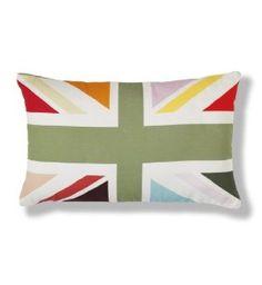 Union Jack pillow.