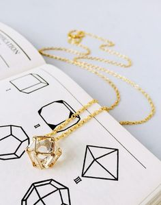 A gorgeously geometric polyhedron necklace.