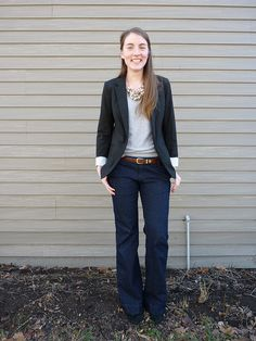 Again, perfect comfy and cool, a little bit grown up with the blazer and necklace.