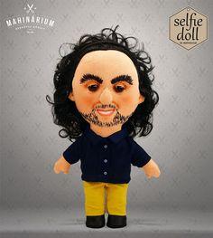 Selfie doll  Attila custom doll caracter doll rag by Mahinarium