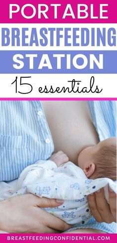 A breastfeeding station makes nursing your newborn so much easier. New moms can take this breastfeeding hack up a level with a portable breastfeeding basket. These are the essentials you need every time you breastfeed. Breastfeeding Books, Breastfeeding Accessories, Breastfeeding Positions, Breastfeeding Problems, Breastfeeding And Pumping, Breastfeeding Tattoo, Every Mom Needs, Breastmilk Storage, Nursing Pads