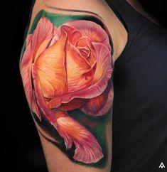 Pretty Rose http://tattooideas247.com/rose-shoulder/