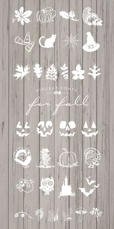 Designs By Miss Mandee: Free Dingbat Fonts for Fall (dingbats are symbols instead of alphabetic letters)
