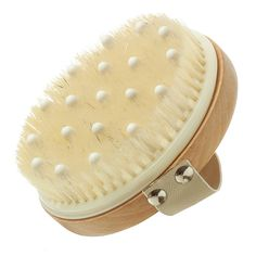 Hydrea London Detox Body Brush with Massage Nodules Lymphatic Detox, Wine Making Equipment, Natural Sea Sponge, Dry Body Brushing, Spa Accessories, Exfoliating Gloves, London Brands, Lymphatic System, Circulatory System