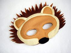 Children's HEDGEHOG Felt Mask