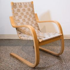 Vintage Alvar Aalto for ARTEK ICF Cantilevered Lounge Chair -