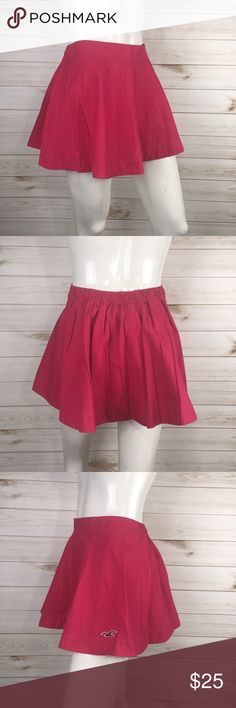 Hollister Hot Pink Circle Skater Skirt New with tags  Hot pink Skater Skirt Has an elastic waist band Super flattering on, really cute fit Hollister Skirts Circle & Skater