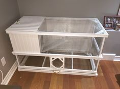 My indoor rabbit hutch that my dad built for me!
