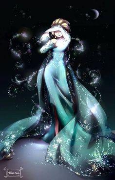 "Elsa from ""Frozen"" - Art by mioko-san on Tumblr"