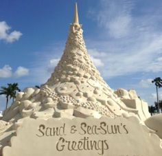 Sand and Sea-Sun's Greeting from West Palm Beach, Florida.