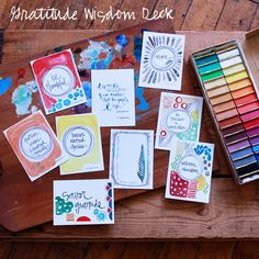 Gratitude - Limited Edition - Wisdom Set of 9 by silvertreeart on Etsy
