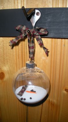 Melted Snowman ~~ Ornament - so cute!