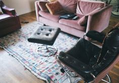 Untitled | Flickr - Photo Sharing! #pinkcouch #carpet