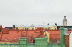Rooftops in Punavuori, Helsinki - Iso Roobertinkatu