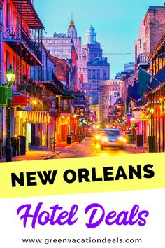 Cheap nightly rates, under $100/night, for New Orleans, Louisiana hotels in Downtown, French Quarter, Warehouse District, Metairie, Pearl River, Airport, etc. New Orleans travel hacks for a budget vacation or trip. #NewOrleans #NOLA #Louisiana #HotelDeals #traveldeals #travelsale #hotelsale #travelhacks #cheaptravel #BudgetTravel #BudgetTraveler #USAtravel #UStravel #onetimeinnola #traveltips New Orleans Hotels, Visit New Orleans, New Orleans Travel, New Orleans Louisiana, Vacation Deals, Travel Deals, Travel Usa, Travel Hacks, Cheap Travel