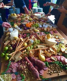 Food heaven...a table worthy of any ravenous person