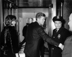 January 14, 1963: President & Mrs. Kennedy depart the Capitol following his State of the Union address