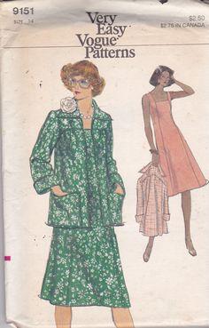 Vintage Vogue 9151 Muster Damen Semi ärmellose von OhSewVogue