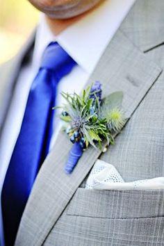 royal blue wedding style groom buttonhole brides of adelaide magazine