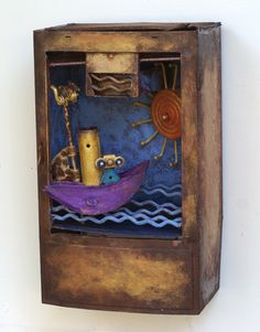 Ocean in a Box by Scott Rolfe  8 x 13.5 x 6 inches