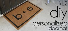 Moving into a new place is a stressful, chaotic time but it's crazy how simply putting a doormat in front of your door can instantly ch. Custom Mats, Personalized Door Mats, Doormat, Crafty, Diy, Custom Rugs, Custom Door Mats, Bricolage, Door Mats
