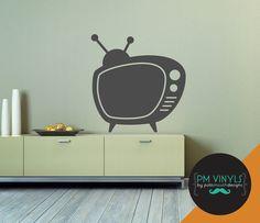 Retro TV Chalkboard Vinyl Decal by PMVinyls on Etsy, $22.50