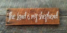 The Lord is my Shepherd Psalm 23: Hand-Painted by AmeliasWoodshed