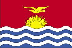 The flag of Kiribati was officially adopted on July The blue and white bands represent the surrounding Pacific Ocean. The frigate bird flying over the rising sun is taken from the coat of arms, and is said to symbolize strength and power at sea. National Symbols, National Flag, Kiribati Island, Kiribati Flag, All Country Flags, International Date Line, Aboriginal Flag, Best Flags, Blue Flag