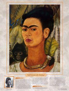 Frida Kahlo Self-Portrait with Monkey 1938 © 2005 Banco de Mexico Diego Rivera & Frida Kahlo Museums Trust and INBAL Frida E Diego, Frida Kahlo Diego Rivera, Frida Art, Kahlo Paintings, Portrait Paintings, Art Paintings, Art Gallery, Mexican Artists, Famous Artists