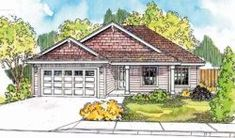 Find your dream ranch style house plan such as Plan which is a 1467 sq ft, 3 bed, 2 bath home with 2 garage stalls from Monster House Plans. House Plans One Story, Best House Plans, House Floor Plans, House Plans 3 Bedroom, Ranch House Plans, Vaulted Living Rooms, Contemporary House Plans, Contemporary Style, Brick Ranch