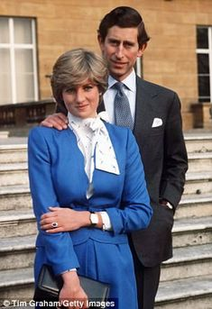 After Harry's birth on September 15, 1984, the Prince and Princess began sleeping in separate bedrooms. Pictured at the announcement of their engagement