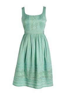 Eyelet Dress for spring