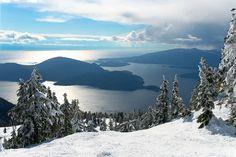 #Bowen Island & #Gambier Island, Depuis Cypress Mountain near Vancouver Canada