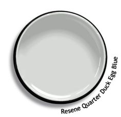 Resene Quarter Duck Egg Blue is a delicate grey with a kiss of blue in it. View on Resene Multi-finish palette View this and of other colours in Resene's online colour Swatch library Annie Sloan Chalk Paint Colors, Chalk Paint Dresser, Gray Chalk Paint, Grey Exterior, House Paint Exterior, Room Colors, House Colors, Paint Colors For Home, Paintings