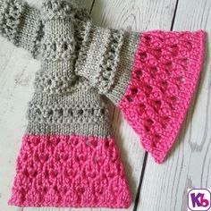Our Keyhole scarf made from our  Double Knit Loom. Visit our site to download the free pattern.
