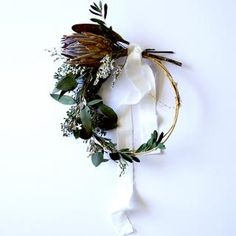 Vintage Protea Wreath