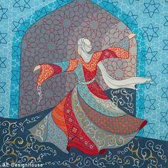 Original Painting Whirling Dervish Sufi Dance Rumi Miniature by AEDesignHouse on Etsy Whirling Dervish, Arabian Art, Buch Design, Turkish Art, Islamic Art, Art And Architecture, Folk Art, Art Drawings, Original Paintings