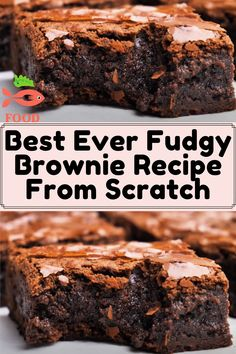 Sweets Recipes, Just Desserts, Baking Recipes, Delicious Desserts, Yummy Food, Sweet Desserts, Yummy Treats, Sweet Treats, Best Brownie Recipe