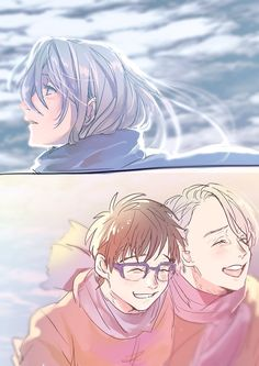 This is beautiful I'm sobbing some artists are crazy fast╥﹏╥ Do you also get more depressed with each time you hear the melody of the… Yuri On Ice Comic, Yuri Katsuki, Ice Art, ユーリ!!! On Ice, Cute Memes, Ice Skating, Me Me Me Anime, Anime Manga, Haikyuu