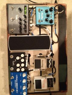 my current pedalboard. Strymon Timeline and Bluesky, T1M Pearl, Fulltone Fulldrive, Boss Eq and Tuner. T1M Ernie Ball Modded Volume pedal. All nice and neat on a RebelBoards custom pedal board #strymon #timeline #bluesky #Pearl