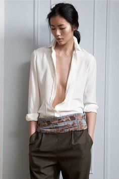 Liu Wen Gets Literary With Tucker's Fall Collection Liu Wen, Looks Style, Style Me, Look Fashion, Womens Fashion, Female Fashion, High Fashion, Classic White Shirt, Fall Collections
