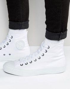 Converse All Star Hi Plimsolls In White 1U646