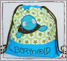 Fran made this fabulous bag using a design from Sea Creatures Too Applique.